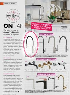 Featured in Australian Homes Plus Magazine - Kitchen & Bathroom Special November 2017 Australian Homes, Mixers, November, Sink, Magazine, Bathroom, Interior, Kitchen, November Born