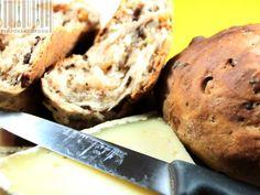 Pane alle noci e cioccolato con farina di castangne