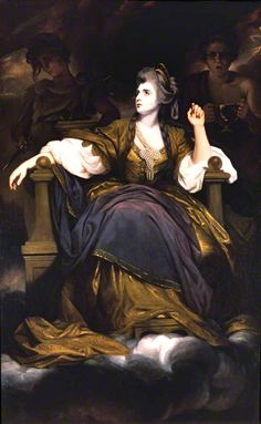 """Sarah Siddons as the Tragic Muse, Sir Joshua Reynolds, Huntington Art Gallery, San Marino CA - the power of this monumental work draws you so forcefully you walk right on by The Blue Boy and """"Pinkie"""""""