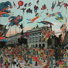 London- Piccadilly Circus- The Convention of Comic Book Characters | Peter Blake, London- Piccadilly Circus- The Convention of Comic Book Characters (2013)