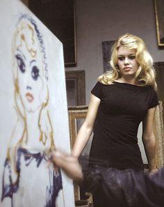 the-king-of-coney-island: gatabella: Brigitte Bardot posing for Kees Van Dongen ⊱✰⊰
