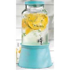 He 1.5 Gal Beverage Dispenser with Galvanized Base | Wayfair