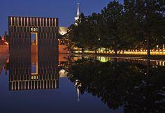 Oklahoma Memorial at night...