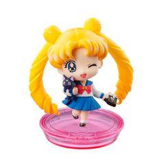 Bishoujo Senshi Sailor Moon - Luna - Tsukino Usagi - Petit Chara! Bishoujo Senshi Sailor Moon School Life  Limited Edition - Petit Chara! Series - Luna Dakko/ Carrying Luna ver. (MegaHouse)