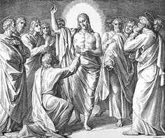 Bilder der Bibel - Jesus und Thomas - Julius Schnorr von Carolsfeld