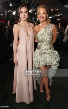 Dakota Johnson and Rita Ora attend the premiere of Universal Pictures' 'Fifty Shades Darker' at The Theatre at Ace Hotel on February 2, 2017 in Los Angeles, California.