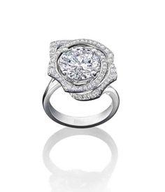 Boodles 4 carat brilliant-cut rose design diamond ring