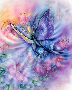 Flower and butterfly round drill diamond painting  diy full diamond embroidery home decoration 5D mosaic arts