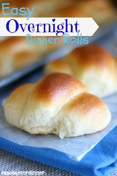 Easy Overnight Dinner Rolls- Could these rolls get any better? No mixer is needed and you can refrigerate the dough overnight. They are so soft and tender and buttery! on eatcakefordinner.blogspot.com #rolls #bread