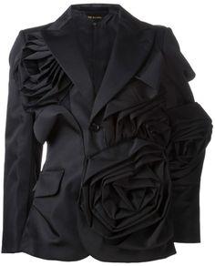 Comme des Garcons layered flower jacket on shopstyle.com