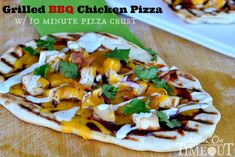 Grilled BBQ Chicken Pizza with 10 Minute Pizza Crust   Perfect for hot summer nights and busy schedules! #pizza #recipe