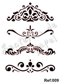Valance stencil template