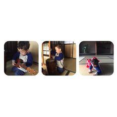 Instagram media 33miyuki - 癒しの僕ちゃん あぁ〜♡可愛すぎる♡♡♡ #子供#癒し#ウクレレ#太鼓#Rody#ロディ