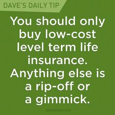 Best thing you can do for your family is ensure they will be taken care of in case you cannot. Rule of thumb: 10 times your current salary. Insuran buying tips,how to buy insurance,financial planning Financial Peace, Financial Success, Financial Planning, Financial Quotes, Dave Ramsey Life Insurance, Total Money Makeover, Term Life, Money Quotes, Budgeting Finances