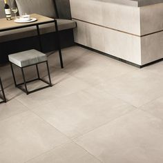 Imitation concrete floor tile CG Greige Plain Rectified, Azuma Imola collection by moncarrocom Room Tiles, Bathroom Floor Tiles, Tile Floor, Modern Floor Tiles, Flooring For Stairs, Living Room Flooring, Interior Design Living Room Warm, Tiled Hallway, Beige Living Rooms
