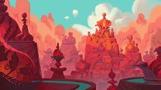 ArtStation - Eddie and the realms eternal (elf village), Chaichan Artwichai