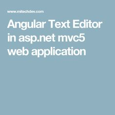 Angular Text Editor in asp.net mvc5 web application