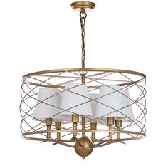 Safavieh Lighting Thea 25.25-Inch Adjustable Pendant Lamp (LIT4519A), Gold (Metal)