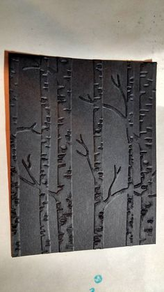 I embossed the cardstock with the new Woodland Textured Impression embossing folder then used a nail file to sand it to a velvety finish. by Lauri Walker