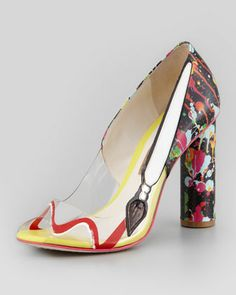 Brush up to your creative side in the Pretty Like Pollock pump from Sophia Webster.