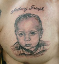Child Portrait Tattoo done at Body Language Tattoo in Queens NYC #portrait #tattoo #tattooartist