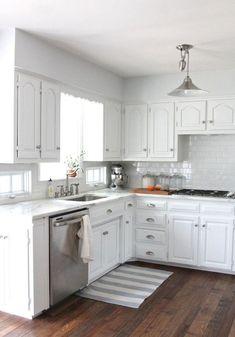 78 Beautiful White Kitchen Cabinet Makeover Design Ideas