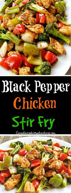 Black Pepper Chicken Stir Fry #black #pepper #chicken #stirfry #asian, #broccoli #celery #chinese #peppers