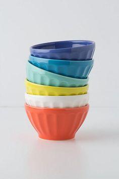 Anthropologie Assorted Latte Bowls Set
