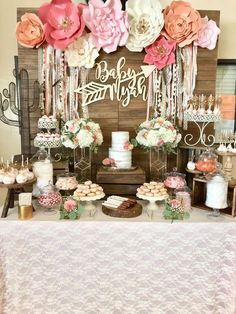 Chá de Bebê menina: 20 ideias de decoração (clássicas, criativas, simples, sofisticadas...)    #chádebebê #babyshower #babyshowerideas #chádefraldas #decoração
