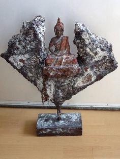 Powertex beeld met Boeddha.