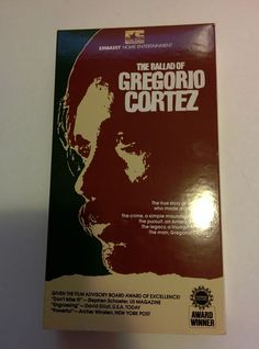 The Ballad of Gregorio Cortez VHS - Edward James Olmos NTSC Embassy Ent.