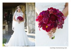 Red bouquet Romance Etc Courtney McManaway Photography