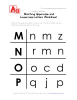 Letter Worksheets - Uppercase and Lowercase A, B, C and D   Kids Learning Station
