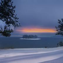 an island of snow
