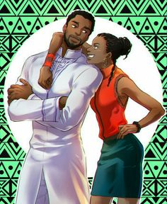 King T'Challa and Princess Shuri of Wakanda Batwoman, Nightwing, Marvel Dc Comics, Marvel Heroes, Marvel Avengers, Cosmic Comics, Shuri Black Panther, Black Panther Marvel, Black Love