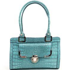 Women's Classic Patent Croco Shoulder Bag