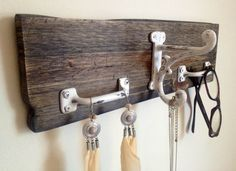 Handmade Repurposed Wood Hanger. $30