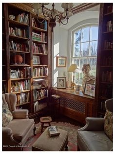 Cozy Home Library, Home Library Design, Dream Library, Dream Home Design, My Dream Home, House Design, Library Ideas, Home Library Rooms, Old Bookcase