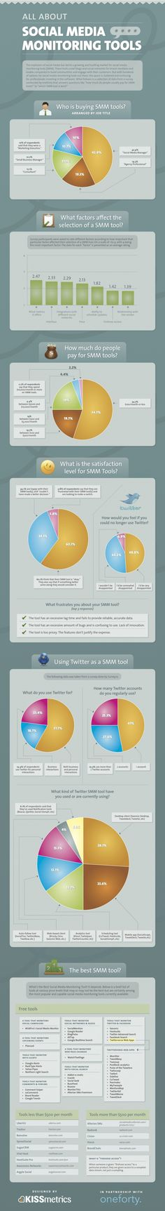 Excellent infographic on Social Media Monitoring Tools