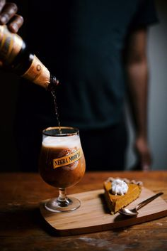pumpkin honey beer pie: tom and Josh both loved it but it took forever and I di - Pinci Ab Inbev, Beer Brewing Kits, Beer Store, Beer Photos, Buy Beer, Beer Recipes, Homebrew Recipes, Brewing Equipment, Food Photography Styling