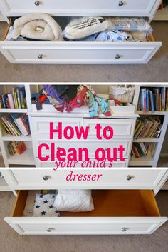 With two kids and work, it's incredibly difficult for me to spend hours cleaning and organizing each day. So, I decided to focus on cleaning out just one drawer of her dresser at a time. From dumping out the contents to putting everything away took me 25 minutes. I think of everything as a system and want to show you exactly how I systematized organizing each item. To do that, I broke this into a series to show step by step how I went from no space to tons of space.