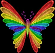 gif rainbow butterfly image by anetpatino Rainbow Butterfly, Love Rainbow, Taste The Rainbow, Butterfly Art, Over The Rainbow, Rainbow Colors, Vibrant Colors, Butterfly Wallpaper, Rainbow Stuff