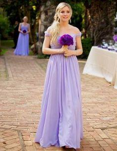 Awesome pastel purple bridesmaid dresses