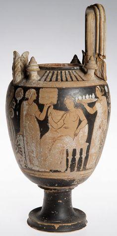 1903.70.ew Clay wedding bowl 'lebes gamikos', found at Lipari, Italy.