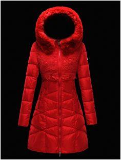 55a921e579d manteau moncler doudoune femme longue capuchon de fourrure rouge doudoune  moncler prix Shops