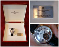 ♥ this watch #Frederiqueconstant #masterpiece #collection #timeless #limitedEdition from #France                                              Frederique Constant Heart Beat Manufacture Limited Edition 031/500 pcs