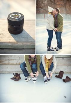 Winter+Engagement+Photo+Props+for+FAB+Brides.        Really want this idea for engagement photos