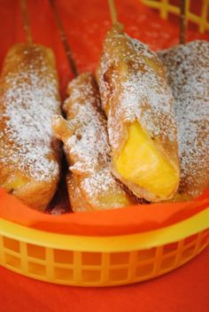 funnel cakes with pineapple filling. Yummy ♥ Delicious