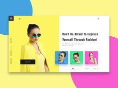 Conceptual Web UI Concept - Fashion