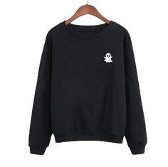 Snapchat Sweatshirt Funny Streetwear Harajuku Pullover Black White Crewneck Hoodies Women Tops